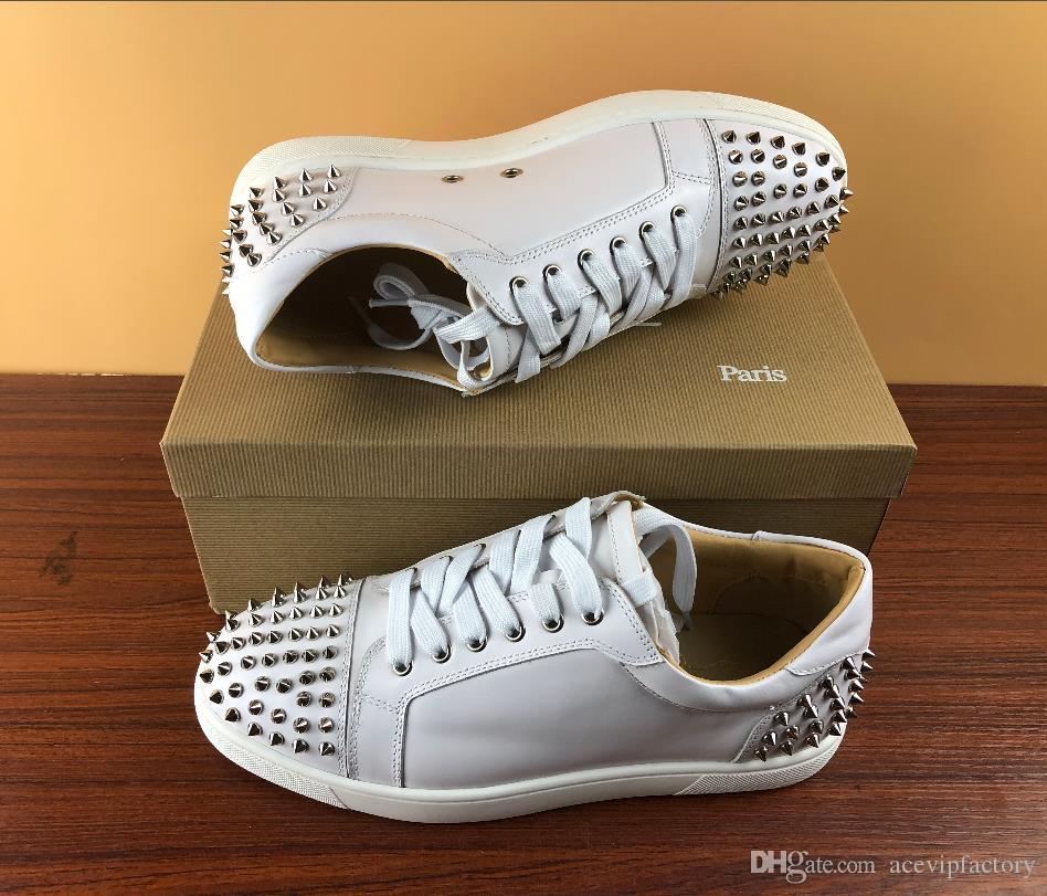 Forman los zapatos de clavos bajo-top Aire libre Runner Race Casual Hombre diseñador de la mujer zapatilla de deporte de los zapatos de cuero con cremallera partido de reuniones Plate-forme exclusivos