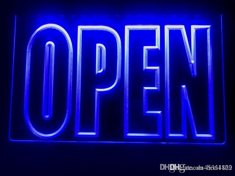 Shop Open Signs LED Neon Light On Off Switch Cafe Bar Pub Business Accessories