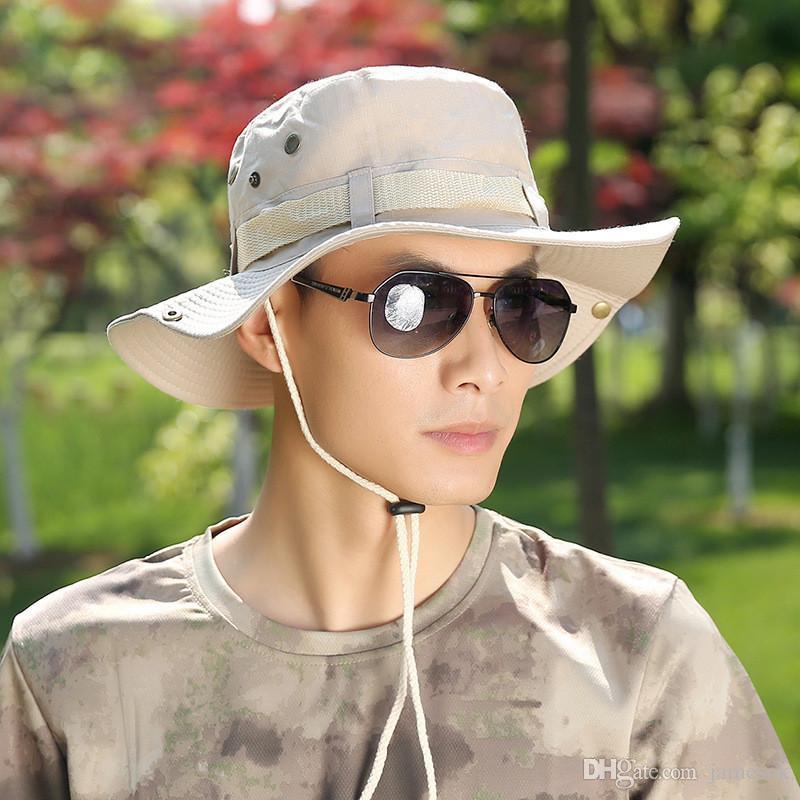 Nova Moda Das Mulheres Dos Homens de Pesca Caça Chapéu Do Sol Balde Boonie Casual Pescador Hat BD0036