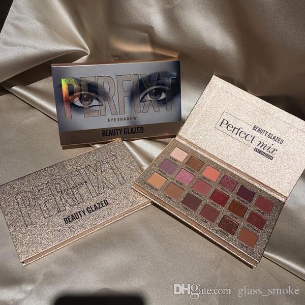 Beauté Mode Eyeshadow 18 Couleurs Glazed Nouveaux Purée EYESHADOW palette Maquillaje Ins Hot Ombre à paupières Maquillage