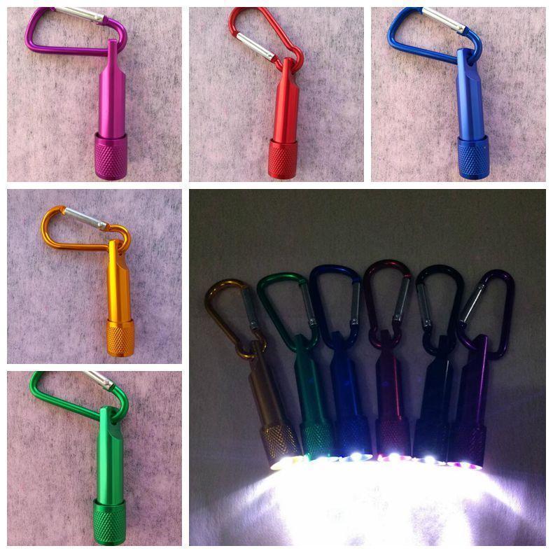 سبيكة الألومنيوم مصباح يدوي صغير قوي ضوء مصباح يدوي سلسلة المفاتيح التخييم الصيد الشعلة مفيد ضوء مصباح الجدة 120PCS عناصر CCA11469-1