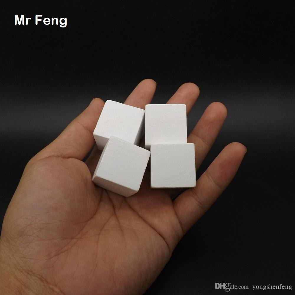 Beyaz 100 adet 2.5 cm Ağacı Ahşap Küp Oyunu Gadget Zeka Ortak Sense Eğitim Oyuncaklar Çocuklar Için (Model Numarası B277)