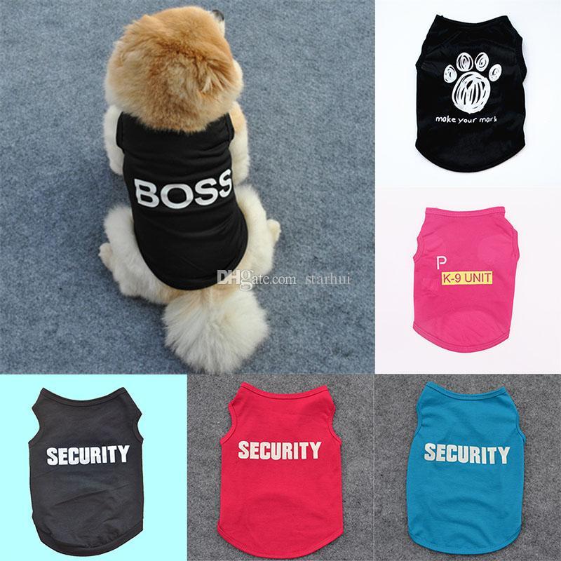 5 styles d'été Vêtements pour chiens Vêtements Cat Gilet Nouveau Petit pull offre Pet Cartoon Vêtements t shirt pour chiot pas cher Jumpsuit Outfit WX9-1711