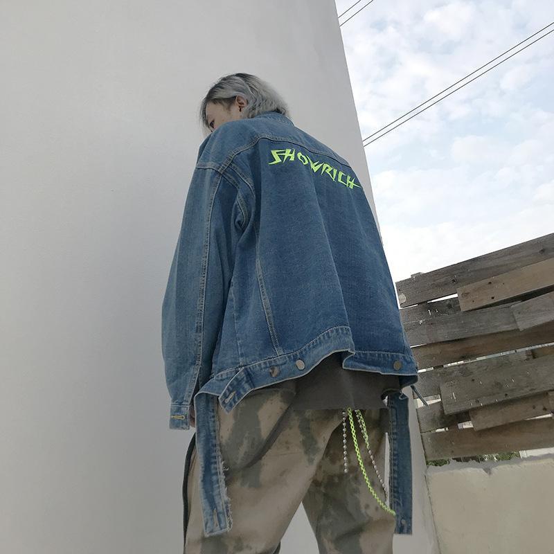 Jean Erkek ceketler Giyim Boş Coats Erkek Pamuk Outwear Jeans Artı boyutu Dış Giyim Denim