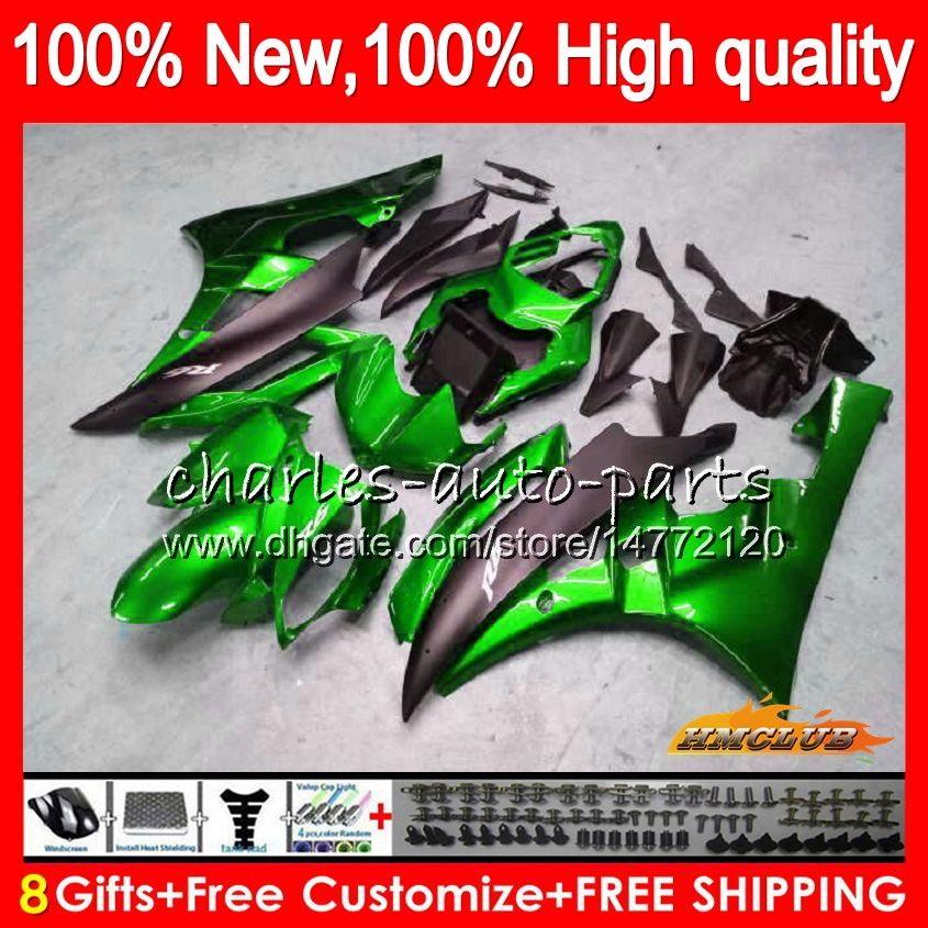 Body OEM voor Yamaha Metal Green YZF R 6 600CC YZF 600 YZF-600 06-07 Frame 61HC.114 YZF-R6 YZF600 YZF R6 YZFR6 06 07 2006 2007 Fairing Kit