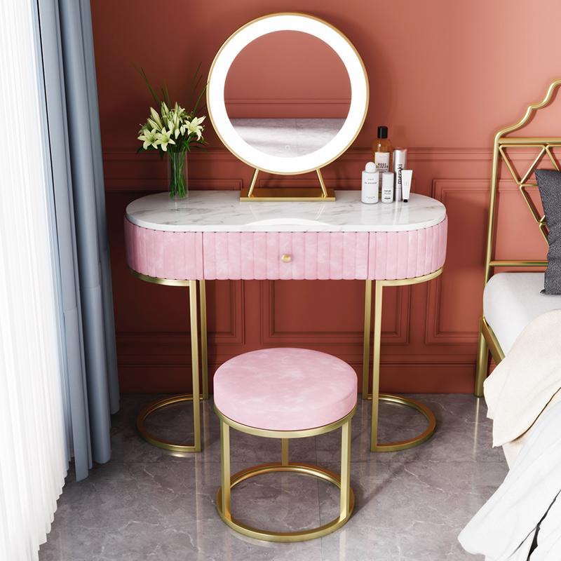 Nordic Marmor Dressing Tisch Schlafzimmer Modern Minimalistische Dressing Tabelle Weibliche Europäische Kleinwohnung Ankleideretisch NEU