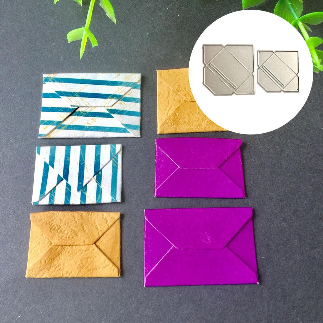 Envelope Metal Die Cuts Cutting Dies for DIY Scrapbooking stitch Embossing Paper Cards Making Decorative Craft Supplies 6Pcs/set