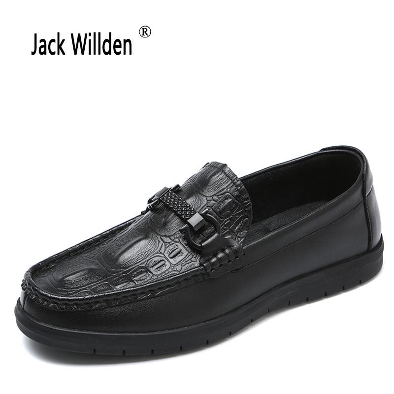 Scarpe nuove da uomo Mocassini casual in vera pelle Coccodrillo Grano Slip-on Uomo Youth Light Piattaforma di guida Scarpe brogue per uomo