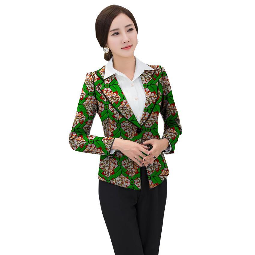 Afrika giysi kadın baskı blazer dashiki giymek Ankara moda takım elbise ceketler custom made düğün ceketler resmi kıyafet