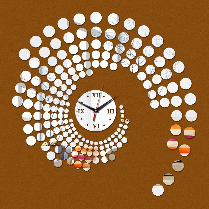 Orologio da parete Offerta limitata speciale al quarzo Vendita Home Decor Acqua Ago moderna acrilico specchio Adesivi Wallpaper Diy Clocks
