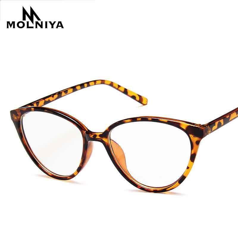 Mode Frauen Cat Eye Optics Brillengestell Marke Design Leopard-Brille-Rahmen Retro große Rahmen des Prescription Brillen