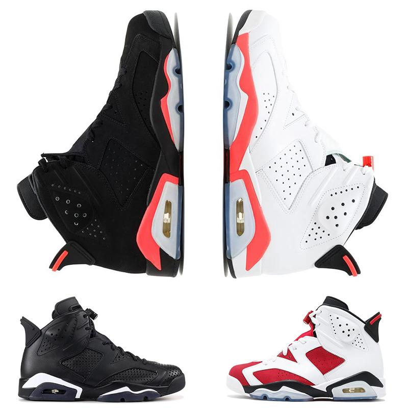 special offer 6 6s mens basketball shoes INFRARED UNC MAROON BLACK CAT Carmine oreo red men designer trainer shoe athletics sports sneakers