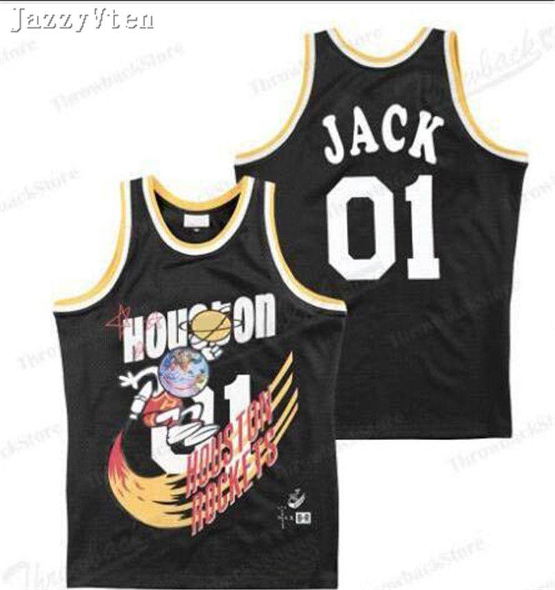 브랜드 품질 Travis Scott BR X MN 01 잭 리포트 농구 저지 남성 힙합 스트리트 유니폼 셔츠