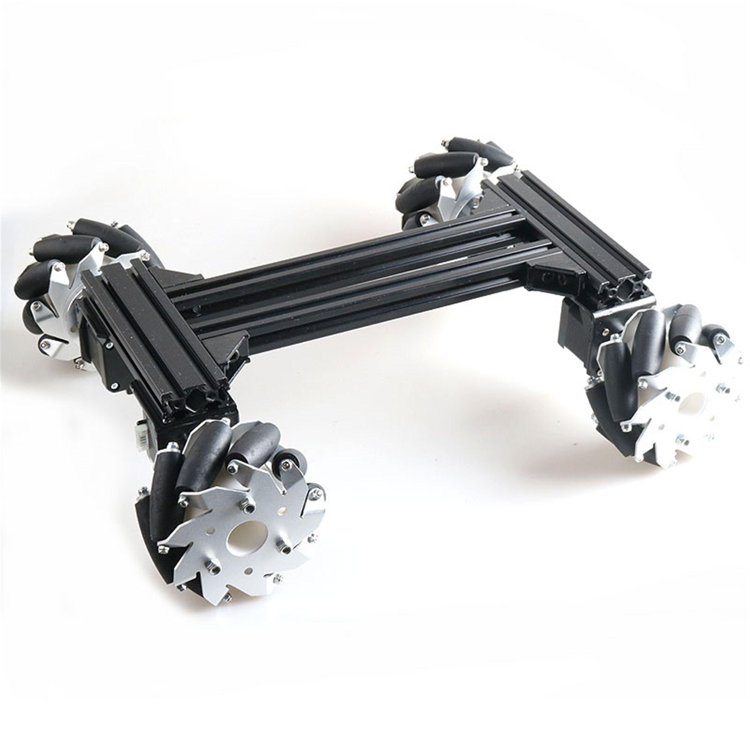 100мм Mecanum Omni колеса High Power Metal RC Robot шасси танка Kit + беспроводной пульт дистанционного управления 4шт 42-шагового двигателя DIY для Arduino
