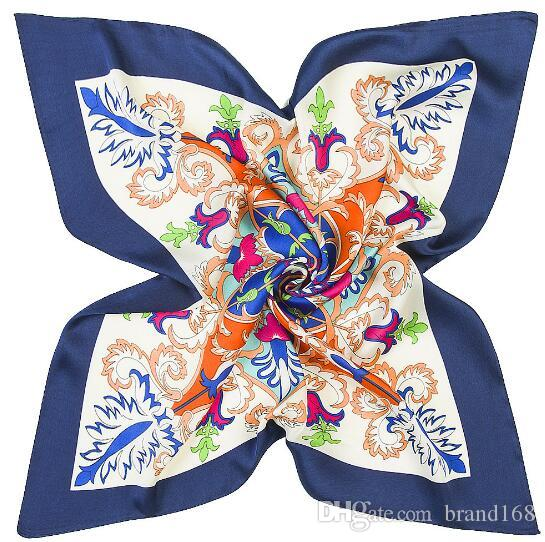 (60cm*60cm)Best Sell Colors New Style square scarf lady Small Scarves Silk Satin flowers/plants/Colors painting/Scarves
