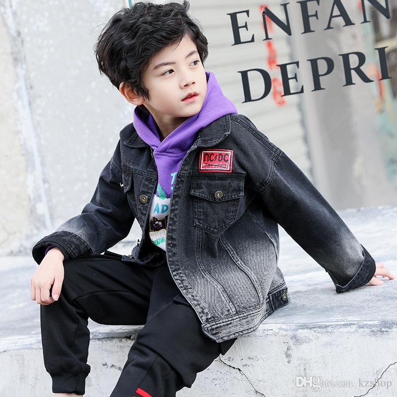 Boys Spring and Autumn Wear Denim Jacket New Children's Shirt Cardigan Coat