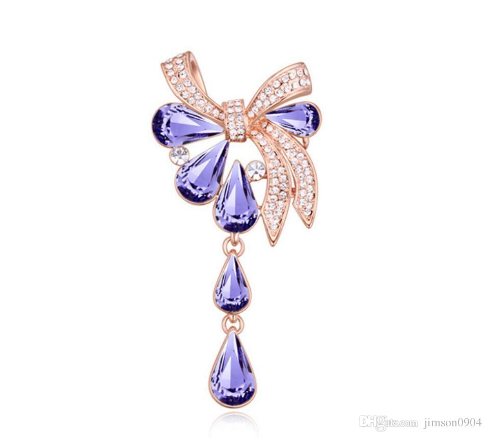 Free shipping fashion jewelry Ornaments Using Swarovski Elemental Crystal Brooch Cloud Pavilion tears Boutique Pin high Brooches