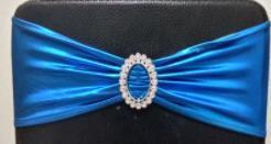 معدني الذهب والفضة دنة كرسي الزنانير العصابات الملكي الأزرق الأرجواني الوردي غطاء كرسي شاح حفل زفاف كرسي ديكور