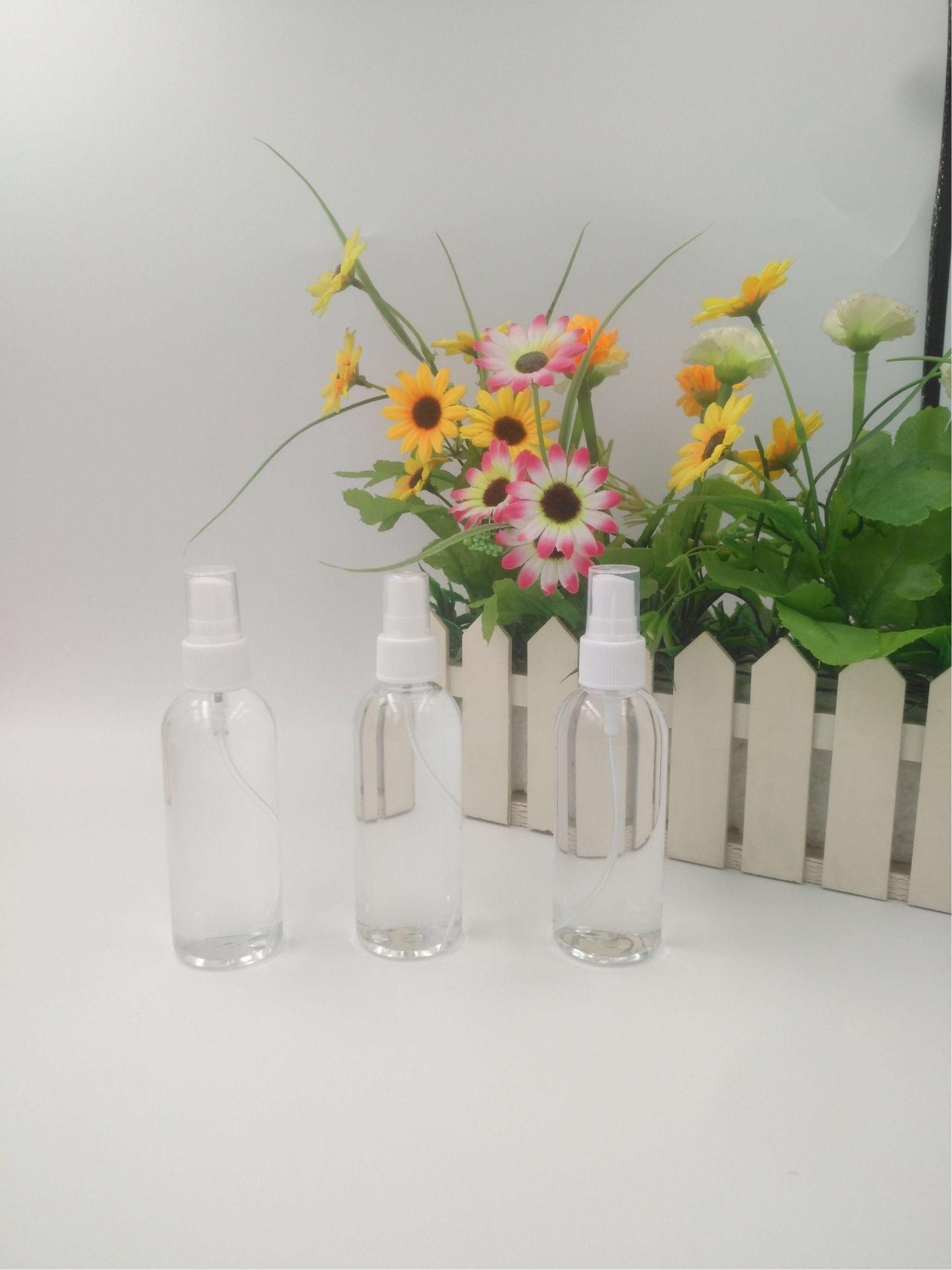 100мл Раскладные Дезинфицирующие Spray бутылки спорта на открытом воздухе бутылки с водой Пластиковые прозрачные круглые Чашки путешествия Портативный Пустая рука дезинфицирующее бутылки
