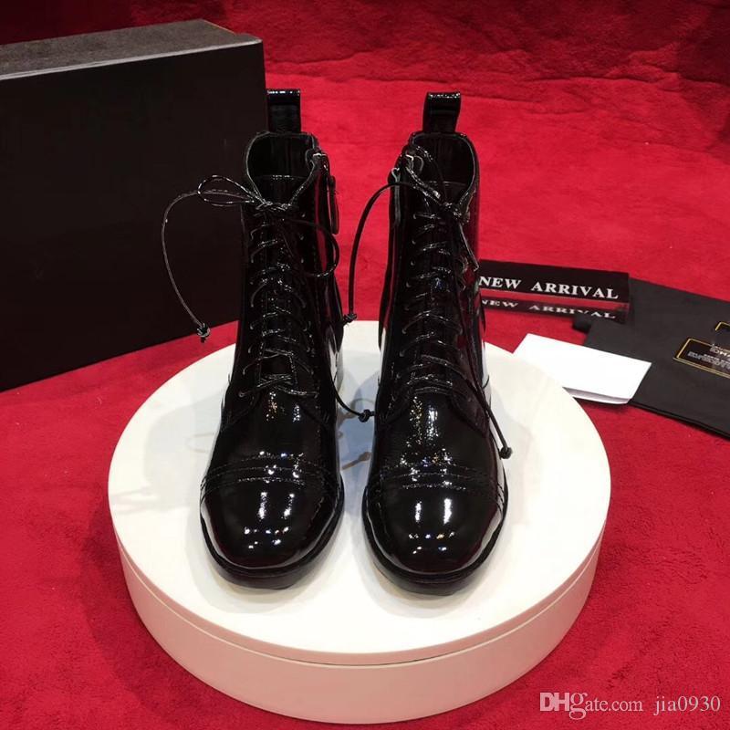 2019 Designer plateforme Bottes en cuir véritable Lady Laureate Plate-forme des femmes à talons hauts Martin bottes désert chaussures de marque mode Wi rh190903