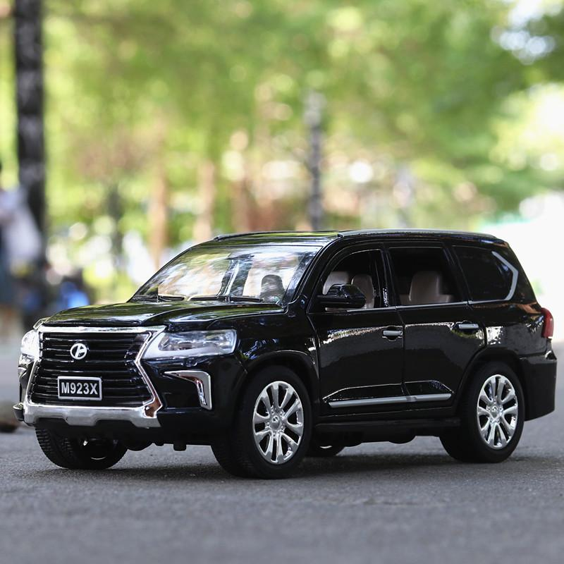 Wholesale Lexus LX570 alloy vehicle model SUV children's toy car 6 doors