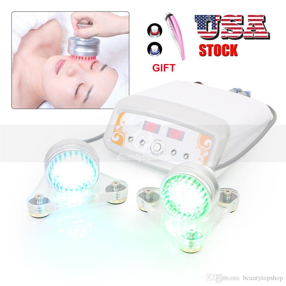 USA STOCK 7 color Photon LED Skin Rejuvenation Machine Microcurrent Skin Lifting Facial Skin Care Acne Wrinkle Remover machine GIFT