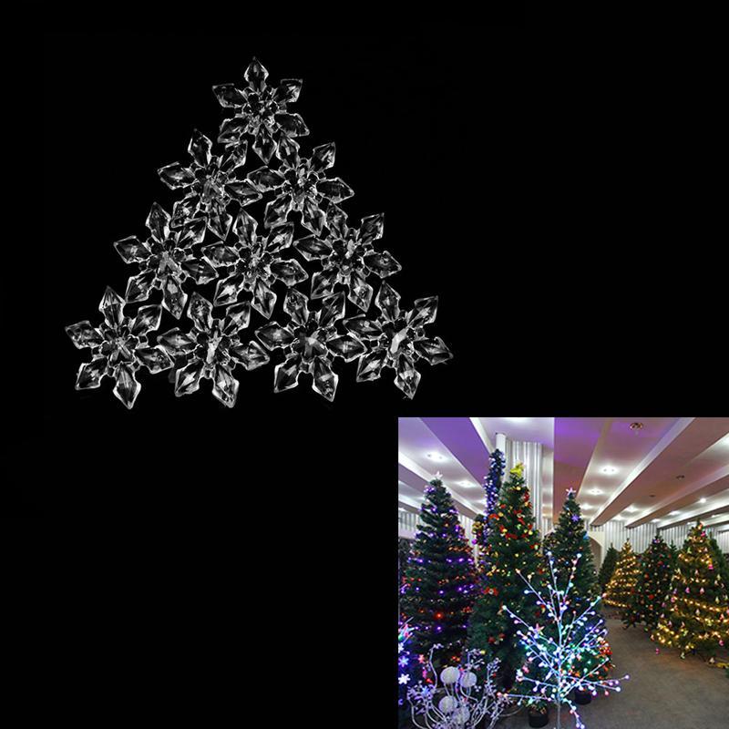 20pcs Noel kar taneleri Süsler Festivali Parti Noel ağacı Asma Dekorasyon