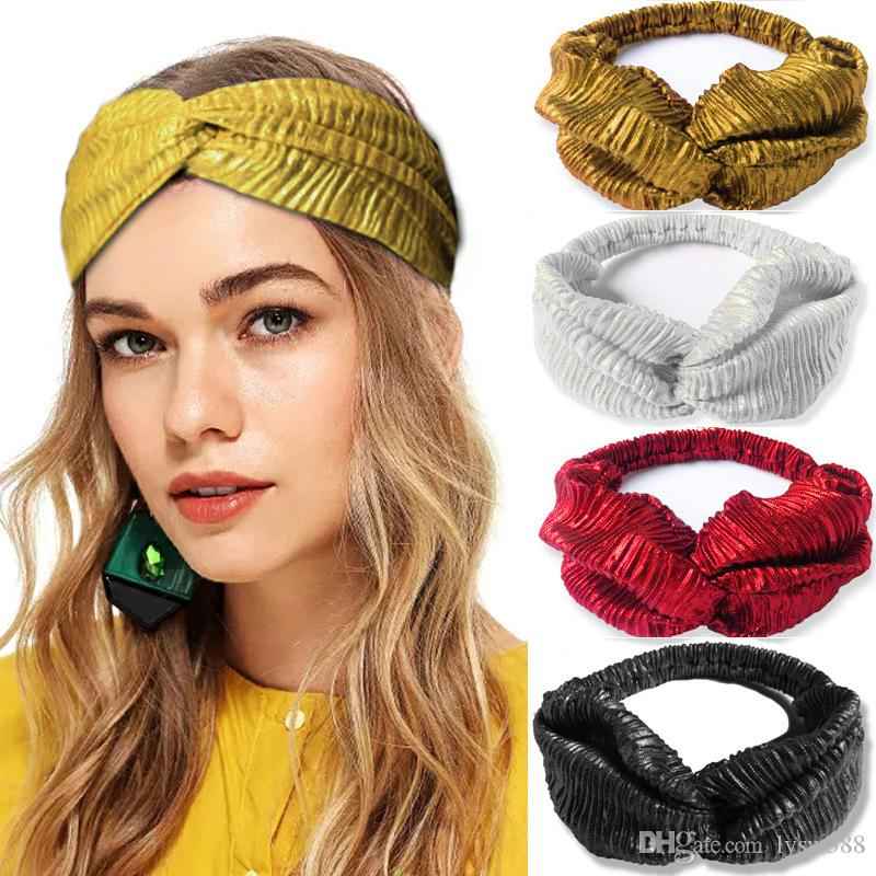 40pcs/lot DIY Simple Multi Fabrics Cross Sports Lady Hair Bands Pure Colore Yoga HeadBands Hair Styling Tools Accessory HA1291