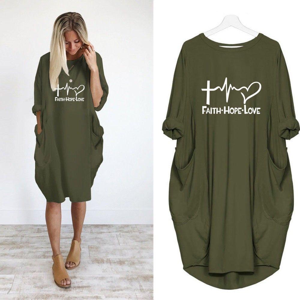 2019 New Fashion Rock Fashion Shirts Hope Love letras Imprimir Tops Fe Tshirt Tshirt Tamaño Tamaño Plus Mujeres Kyliejenner Divertido NLFMG