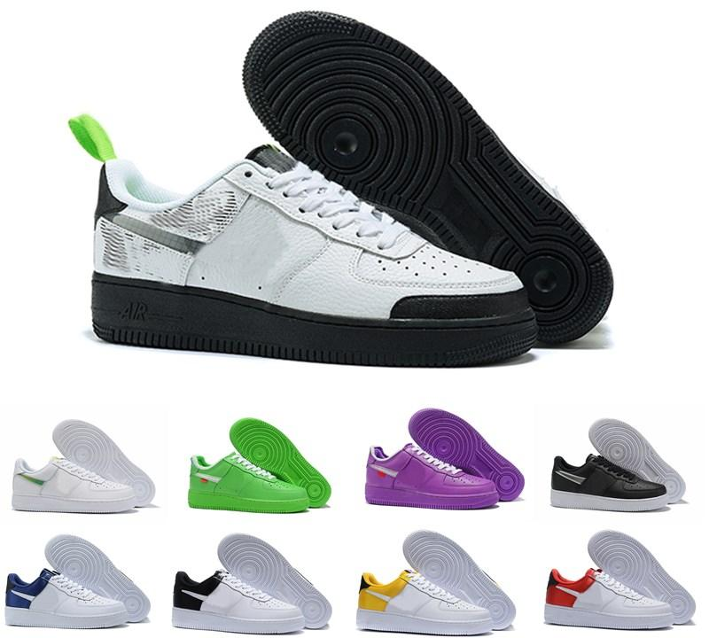 2019 Top Men Women High Quality Nike Air Force one 1 AF1 One 1 Running Shoes Low Cut All White Black Triple Outdoor Zapatillas de deporte Zapatillas Tamaño 36-45