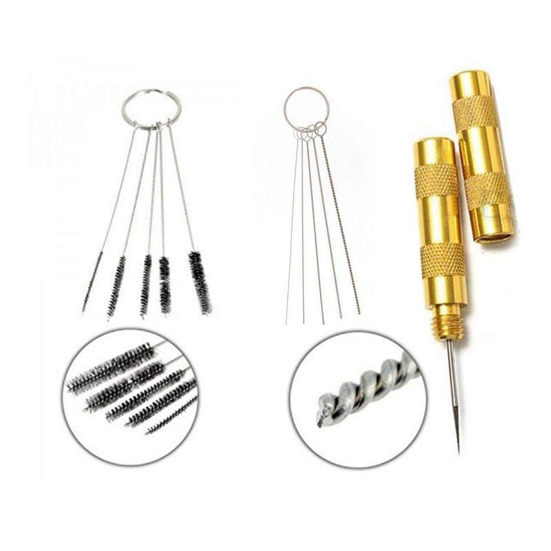 Top-11-in-1 Airbrush Reiniger Zubehör mit Edelstahlbürsten und Nadel | Professionelle Reinigung Kit Tools