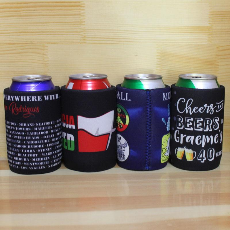 100pcs/lot Neoprene Stubby Holders Customized Printing LOGO For 330ML Beer Bottle Can Coolers Custom Printed For Party Gifts