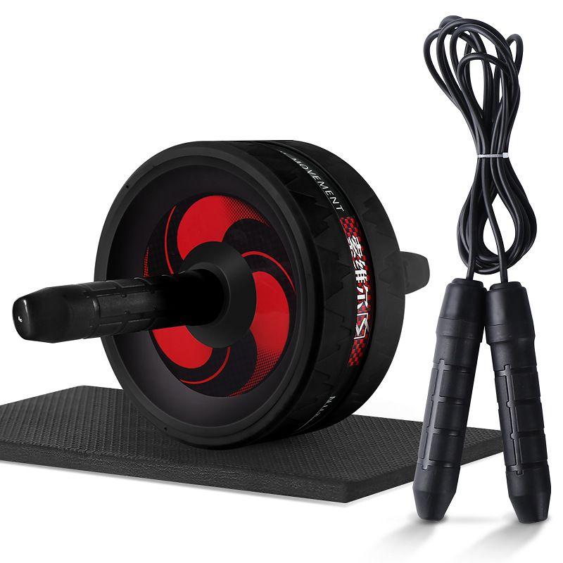 2 in 1 Bauch-Übung Rad Jump Rope Nein Geräusch Ab Räder Bauch-Übung Rollen mit Matte für Fitness