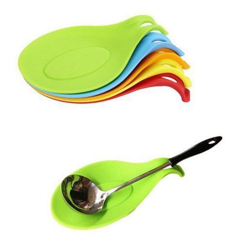 Nuevos productos personalizados Esteras de mesa Almohadillas Flexible de silicona Resistente al calor Cuchara Tenedor Estera Venta caliente