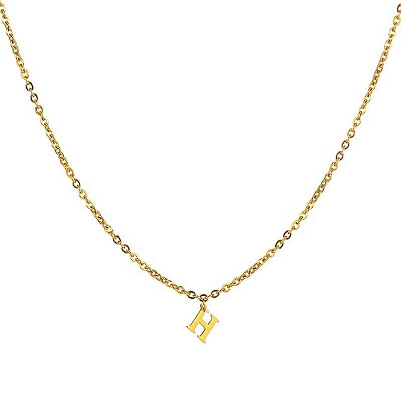 Персонализированные пользовательские имя ожерелье колье золото начальные индивидуальные письма ожерелья Для женщин ювелирные изделия из нержавеющей стали