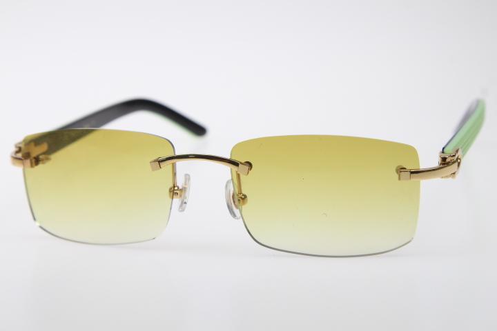Hochwertige 3524012 Randlos Plank Sonnenbrille Hot Designer Mann oder eine Frau V400 Brillen Mode Silber Brown Objektiv