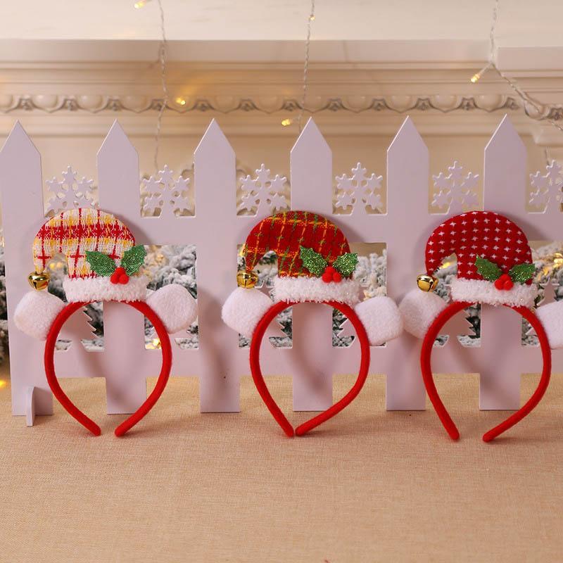 Capelli Natale Headwear curvo cappello di Natale la protezione della fascia festa per bambini accessori per capelli di natale Classic Banda XH