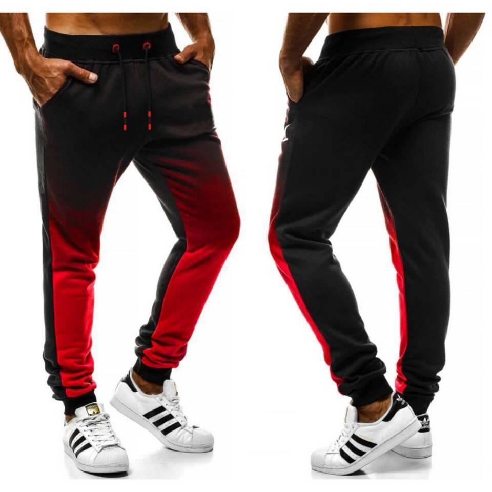 Спорт Фитнес Gradient Мужские брюки Комфортные Длина Брюки дышащий Полный Повседневная мода новых людей Дизайнер одежды