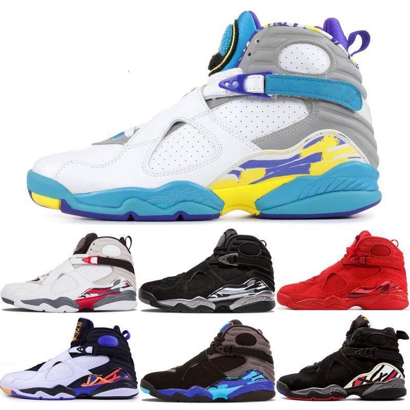 2019 do Aqua Branca 8 VII 8s homens tênis de basquete homens Três Turfa do Aqua Chrome Playoff Mens Countdown pacote ao ar livre Sneakers instrutor de esportes
