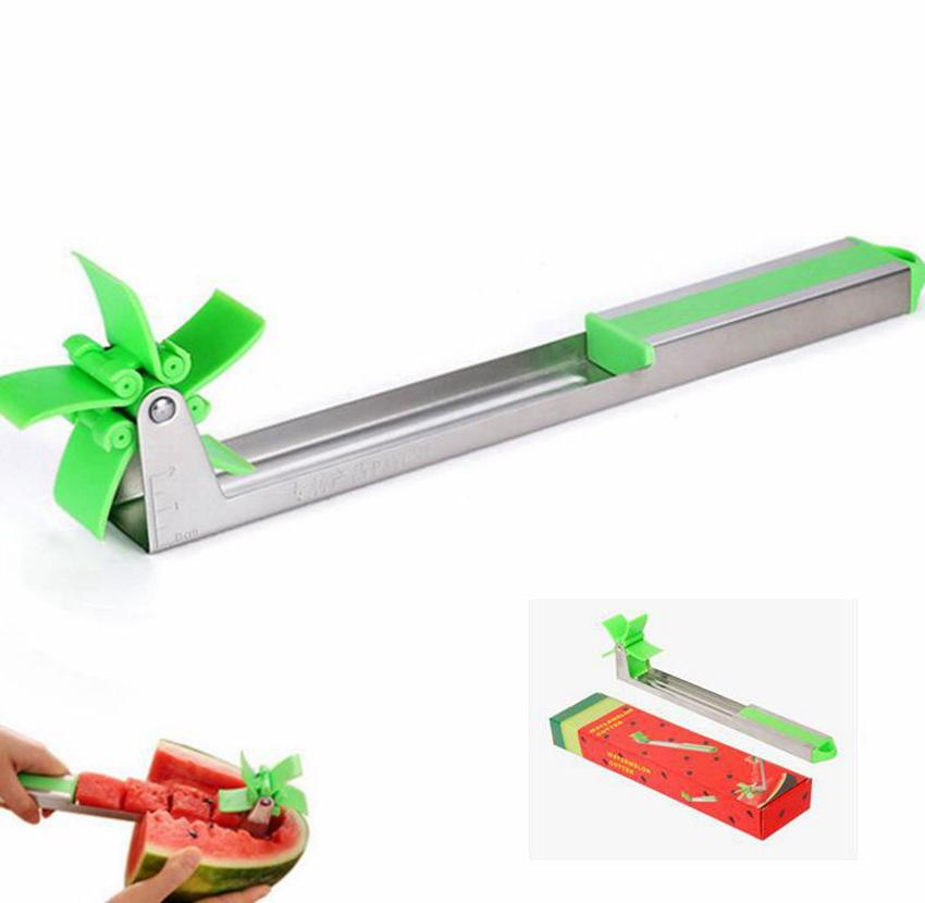 Windmill Watermelon Cutter Shredder Fruit Slicer Melon Splitter Slice Tool Watermelon Cutter Tongs Knife Corer Kitchen Tools KKA7849