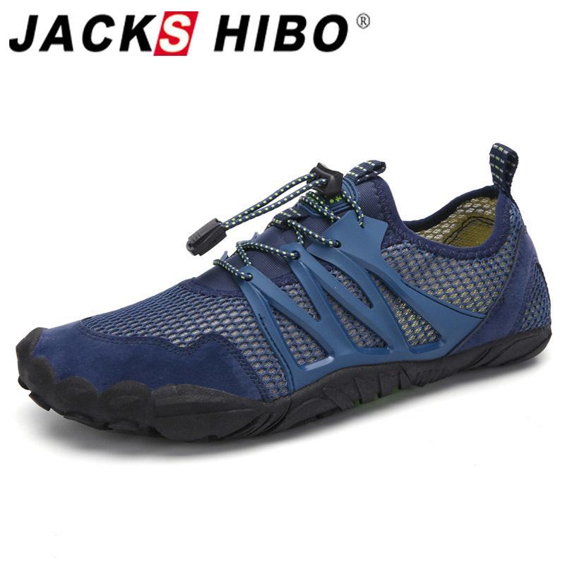 JACKSHIBO Agua para hombres transpirable Playa Piscina Senderismo Upstream Surf Sport zapatillas de deporte de los zapatos T200523