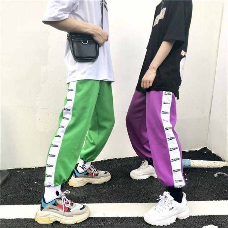 Fashion joggers men casual hip hop pants men brand clothing male sweatpants trousers fashion high street dance pants women