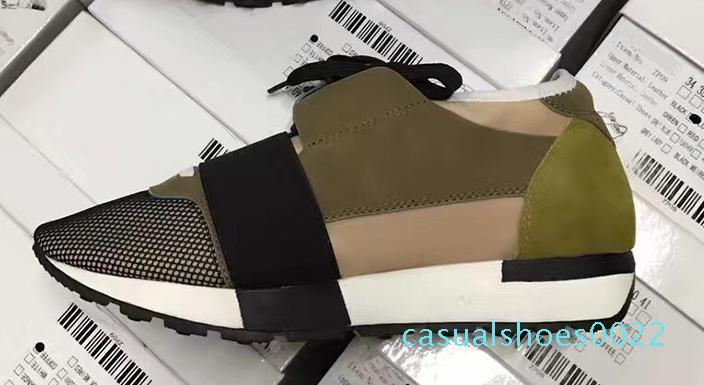 Moda Erkek Kadın Günlük Ayakkabılar lüks Tasarımcı Sneaker Orijinal Mesh sivri burun yarışı Runner Ayakkabı Outdoor Eğitmenler ile Kutusu US5-12 c22