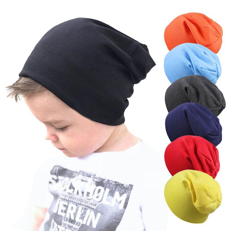 أطفال بنين حك القبعات 21 اللون الخريف قبعات محبوك الصلبة للرضع بنين القبعات القطن الدافئة في فصل الشتاء قبعات الهواء الطلق طفل قبعة عارضة 06