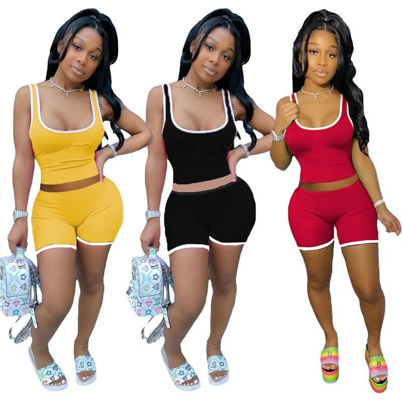 женские два куска набора костюм рубашки краткости обмундирования рукавов спортивной рубашка брюки Sweatsuit пуловер колготки спортивной горячая klw4205
