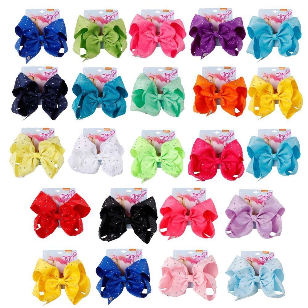 Les filles Bows Barrettes couleur Rainbow strass filles Siwa style de cheveux clip de Noël Jojo Noeud dans les cheveux Accessoires cheveux Clips anniversaire Bow
