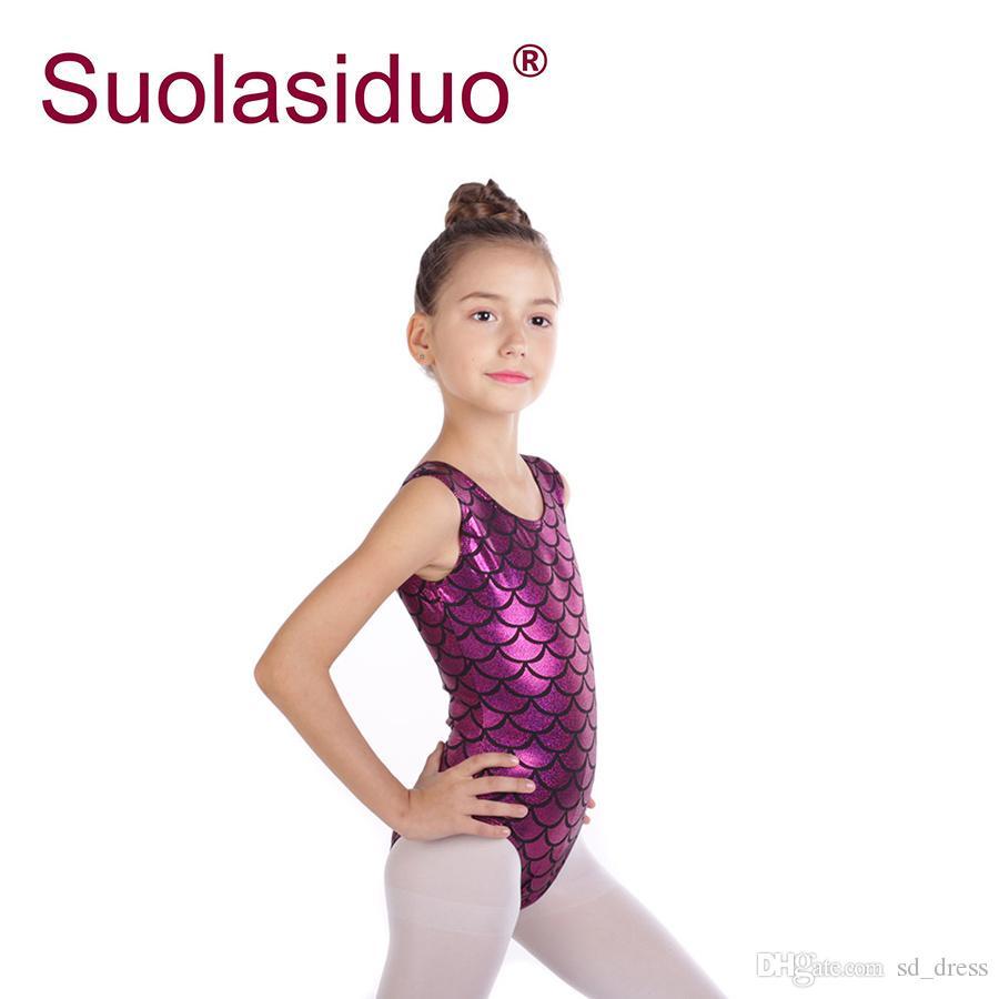 SZ 3-14 Ballet Dance Gymnastics Leotards Athletic Tank Suit Kids Girls Ballerina