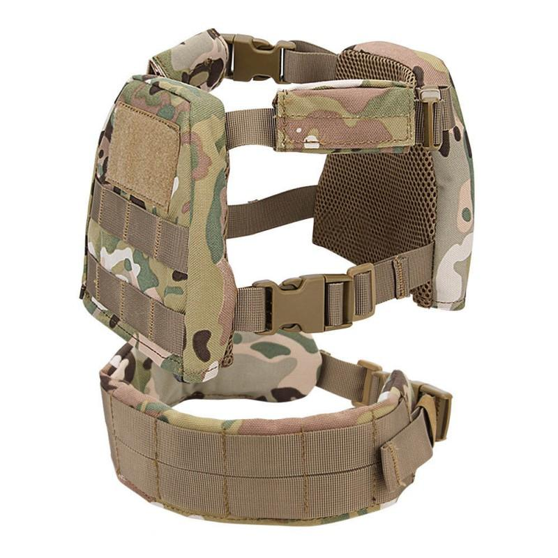 2-6 Year Children Tactical Vest Set 1000D Nylon Buckled Strap Protective Clothing Tops Waist Belt Sportswear Accessories