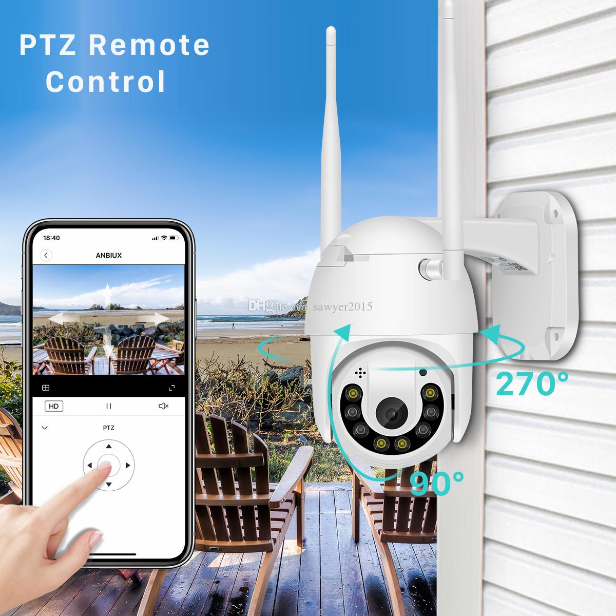 2MP Outdoor Wifi IP Camera 1080P Color Night Vision PTZ Camera Onvif TF Card Cloud Storage Speed Dome Camera home security camcorder V380