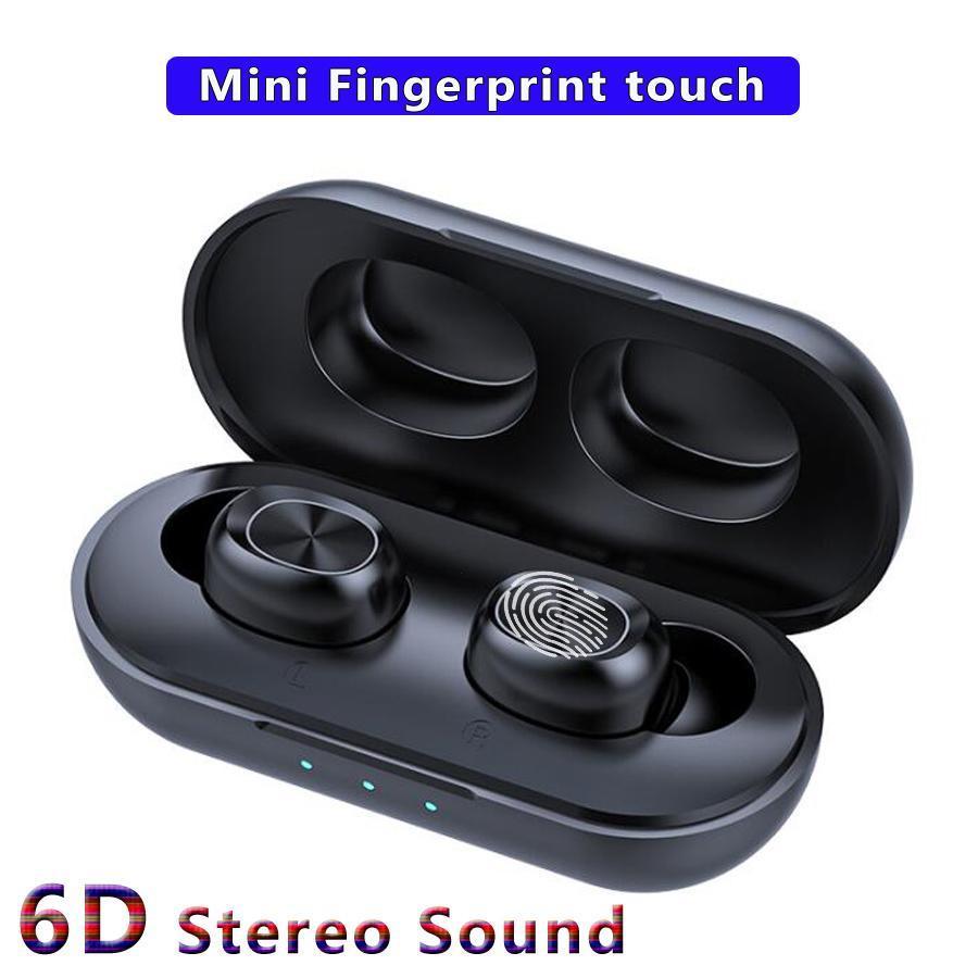 B5 لاسلكية سماعات الأذن بلوتوث 0.0 5 توس سماعة ستيريو سماعات 6D اللمس سماعة تحكم مع الشحن صندوق هيئة التصنيع العسكري لجميع الهاتف